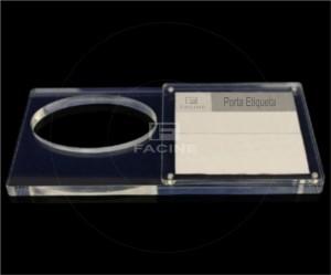 Porta Etiqueta em acrilico celular
